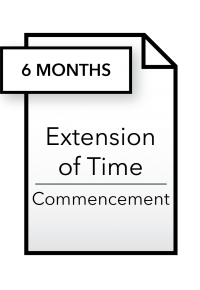 Form_Extension of Time - Commencement - 6 months